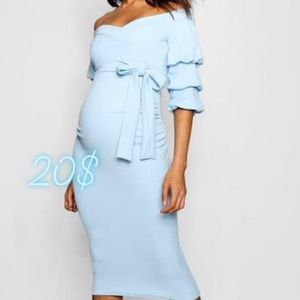 Blue maternity dress